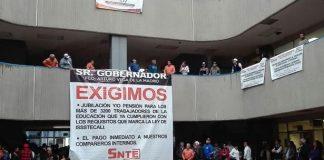 Paro de maestros Baja California