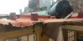 l techo de una aula perteneciente a la escuela primaria Miguel Serrano, ubicada en el Centro Histórico de la Ciudad de México, se colapsó después de copiosas lluvias en esta delegación.